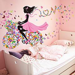 애니멀 / 보태니컬 / 정물화 벽 스티커 플레인 월스티커 데코레이티브 월 스티커,PVC 자료 이동가능 / 재부착가능 홈 장식 벽 데칼