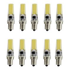 9 E12 LED-kohdevalaisimet T 1 COB 350 lm Lämmin valkoinen / Kylmä valkoinen Koristeltu AC 110-130 V 10 kpl