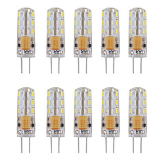 Silica Gel G4 12V AC/DC Led Bulb 24 SMD 3014 360 Beam Angle White/Warm White (10 Pieces)