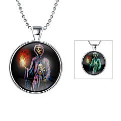 Cremation Jewelry Magical Glow in The Dark 925 Sterling Silver Luminous Halloween Pendant Necklace