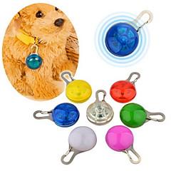 Kediler Köpekler Etiketler Su Geçirmez LED Işıklar Güvenlik Tek Renk Kırmızı Beyaz Yeşil Mavi Pembe Sarı Turuncu Plastik