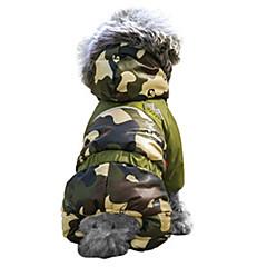 Γάτες / Σκυλιά Παλτά / Φούτερ με Κουκούλα / Σύνολα Κόκκινο / Πορτοκαλί / Πράσινο / Μπλε / Καφέ / Ροζ Ρούχα για σκύλους Χειμώνας καμουφλάζ