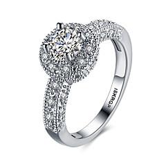 Midi-sormukset Nauhasormukset Tyylikkäät sormukset Gemstone Sterling-hopea Zirkoni Cubic Zirkonia Gem jäljitelmä DiamondHip-Hop