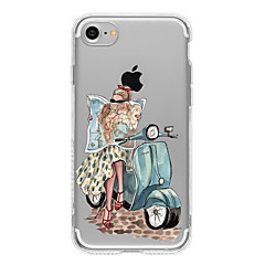 For iPhone 7 etui / iPhone 7 Plus etui / iPhone 6 etui Mønster Etui Bagcover Etui Sexet kvinde Blødt TPU AppleiPhone 7 Plus / iPhone 7 /