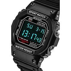 Unisex Sportsklocka Militärklocka Smart klocka Modeklocka Armbandsur Digital Japansk kvartsurLED Kronograf Vattenavvisande Dubbel tidszon