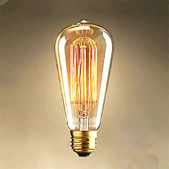 25W Edison st64 λαμπτήρες ευθεία σύρμα για την πώληση Edison φως διακόσμηση τέχνης
