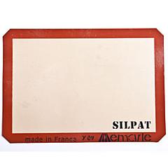 szilikon sütés mat fél méretű 42 * 29.5cm silpat tapadásmentes szilikon tepsibe