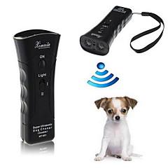 Dog Treino Electrónico / Ultrasónico / Lanterna Portátil Preto Plástico