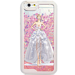 Flowing Quicksan Liquid/Pattern Sexy Lady PC Hard Case For Apple iPhone 6s Plus/6 Plus/iPhone 6s/6/iPhone 5/5s/SE