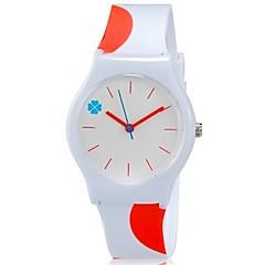 Børn Armbåndsur Quartz Farverig Plastik Bånd Slik Sej Afslappet Orange Hvid