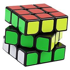 Yongjun® Cube de Vitesse  3*3*3 Vitesse Cubes magiques Noir Autocollant lisse Guanlong Anti-pop ressort réglable ABS