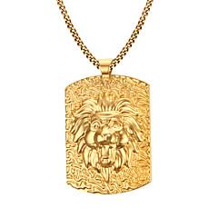 Herre Halskædevedhæng Rustfrit Stål Guldbelagt Mode Smykker Til Daglig Afslappet Julegaver