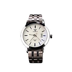 296 YAZOLE Fashion Unisex's Dress Watch Stainless Steel Blue Ray Glass Calendar Noctilucent Analog Quartz Wrist Watches