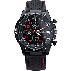Masculino Relógio de Pulso Quartzo / Silicone Banda Legal Casual Branco Azul Vermelho Rosa marca