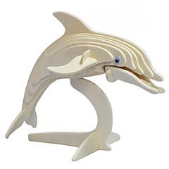 puzzle-uri Puzzle 3D / Puzzle Lemn Blocuri de pereti DIY Jucarii Dolphin Lemn Auriu Jucărie de Construit & Model