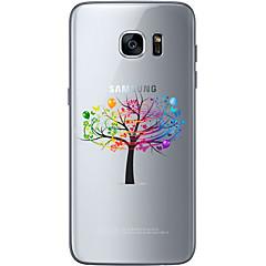 For Samsung Galaxy S7 Edge Mønster Etui Bagcover Etui Træ Blødt TPU for Samsung S7 edge S7 S6 edge plus S6 edge S6