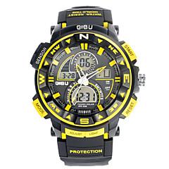 Herr Sportsklocka Militärklocka Smart klocka Modeklocka Armbandsur Digital Japansk kvartsurLED Kronograf Vattenavvisande Dubbel tidszon