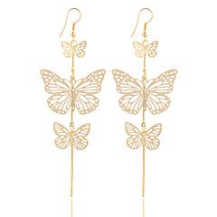 Kolczyki wiszące Biżuteria Posrebrzany Pozłacane Stop Gold Silver Biżuteria Na Ślub Impreza Halloween 1 para