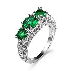 טבעת זירקונה מעוקבת זירקון זירקוניה מעוקבת אופנתי צהוב אדום ירוק כחול כחול בהיר תכשיטים חתונה Party Halloween יומי קזו'אל ספורט 1pc