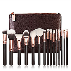 bestseller 15pcs cosmetische zachte make-up borstel set blush poeder concealer foundation oogschaduw lip borstels sets