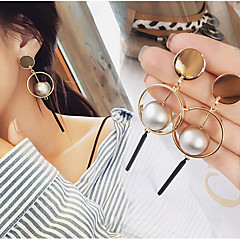 Ball Circle Simple Personality Fashion Hoop Dangle Drop Earrings