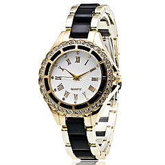 Women's Fashion Strap Watch Quartz Casual Watch Diamond Alloy Belt Business Round Alloy Dial Watch Cool Watch Unique Watch