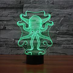 осьминог коснитесь затемнением 3D LED свет ночи 7colorful украшения атмосфера новизны светильника освещения свет рождества