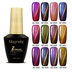 Azure 12ml Chameleon Magnetic Gel Nail Polish Soak off UV Color Gel Long Lasting