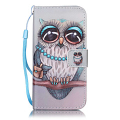 For iPhone 7Plus 7 6s Plus 6Plus 6S 6 SE 5s 5 PU Leather Material Gray Owl Embossed Protective Cover