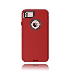 Voor iPhone 7 hoesje / iPhone 7 Plus hoesje Water / Dirt / Shock Proof / met venster hoesje Volledige behuizing hoesje Effen kleur Hard PC