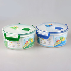 Food Grade Microwave Safe Round Lunchbox with Lock Lid