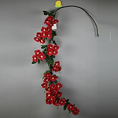 Set of 1 PCS 1 şube Polyester Güller Masaüstü Çiçeği Yapay Çiçekler Long 54(inch)