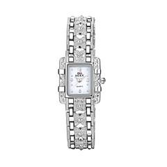 Damen Modeuhr Armband-Uhr Armbanduhren für den Alltag Quartz Wasserdicht Legierung Band Bettelarmband Bequem Elegante Silber Weiß Schwarz
