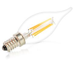 dimmable 6W E14 ha condotto le lampadine a filamento CA35 6 cob 550LM caldo / lampadine bianche fredde luci lampara (220v)
