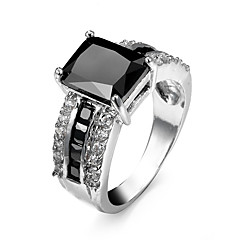 Ring AAA Cubic Zirconia Zircon Cubic Zirconia Alloy Black Blue Champagne Jewelry Wedding Party Halloween Daily Casual Sports 1pc