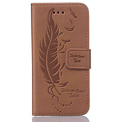 Feather-Sided Embossed Pattern Leather for Samsung S5 S6 S7 S6 edge S7 edge