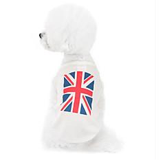 Koirat College Valkoinen Koiran vaatteet Talvi / Kesä / 봄/Syksy Kansallislippu Muoti / Rento/arki