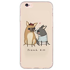 iPhone 7 7Plus Dog Pattern TPU Ultra-thin Translucent Soft Back Cover for iPhone 6s 6 Plus 5s 5 5E