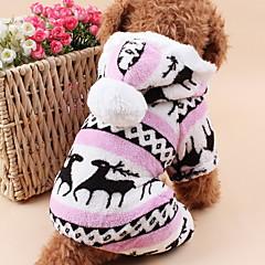 Katte / Hunde Hættetrøjer / Jumpsuits / Pyjamas Blå / Brun / Pink / Grå Hundetøj Vinter / Forår/Vinter Rensdyr Sød / Hold Varm / Jul