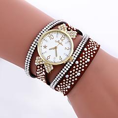 Women's Bracelet Watch Quartz Imitation Diamond Leather Band Butterfly Black White Blue Red Brown Beige Rose Brand