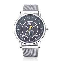 Unisex Dress Watch Fashion Watch Water Resistant / Water Proof Quartz Alloy Band Casual Silver