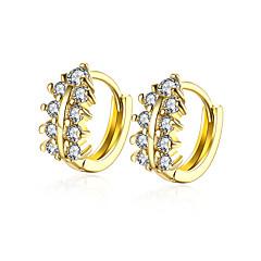 Dames Oorknopjes Ring oorbellen Zirkonia Zirkonia Verguld Sieraden Voor Bruiloft Feest Dagelijks Causaal Sport