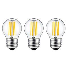 6W E26/E27 LED Λάμπες Πυράκτωσης G45 6 COB 560 lm Θερμό Λευκό V 3 τμχ