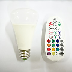 10W E26/E27 RGBW LED Globe Bulb 800 lm RGB Dimmable /Music-Controlled / Remote-Controlled AC 85-265V