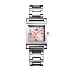 Damen Modeuhr Armbanduhren für den Alltag Quartz Wasserdicht Edelstahl Band Bequem Silber Rosa
