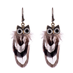 Earring Non Stone Drop Earrings Jewelry Women Halloween / Wedding / Party Alloy / Feather 1 pair As Per Picture