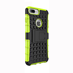 For iPhone 5 etui Stødsikker Med stativ Etui Bagcover Etui Armeret Blødt Silikone for AppleiPhone 7 Plus iPhone 7 iPhone 6s Plus/6 Plus