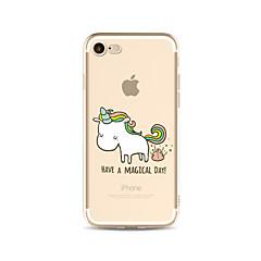 Para Traslúcido / Diseños Funda Cubierta Trasera Funda Animal Suave TPU AppleiPhone 7 Plus / iPhone 7 / iPhone 6s Plus/6 Plus / iPhone