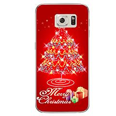 Til Samsung Galaxy S7 s7 kant smukt juletræ tpu blødt tilfælde cove s6 kant plus
