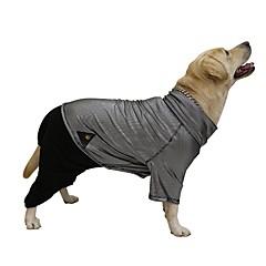 Psy Płaszcze Kombinezon Ubrania dla psów Zima Blok kolorów Zatrzymujący ciepło Dwustronny Black
